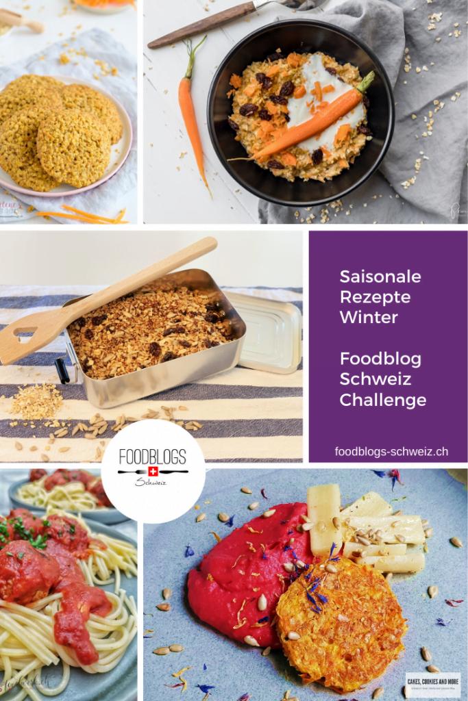 Saisonale Winterrezepte mit Kartoffeln, Schwarzwurzeln, Karotten, Randen, Haferflocken und Sonnenblumenkerne. Entdecke spannende Rezept-Kreationen aus unserer Februar-Food-Challenge.