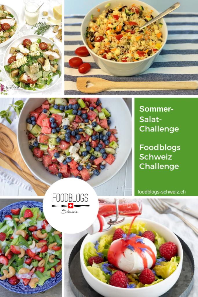 Ob fruchtig oder klassisch, salzig oder süss, vegan, vegetarisch oder mit Fleisch, als Vorspeise, Beilage zum Grill oder Dessert – Sommersalate mit Gemüse- und Fruchtsorten, die im Juli Saison haben, passen immer!