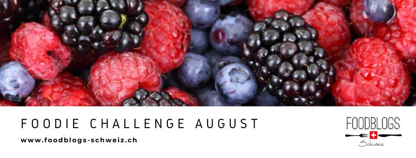 Banner für die Foodblogs Schweiz Challenge im August 2020