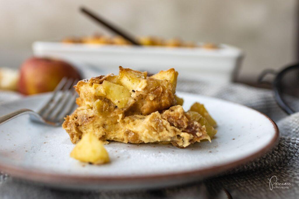 Apfel Brot Pudding Scheiterhaufen | Princess.ch