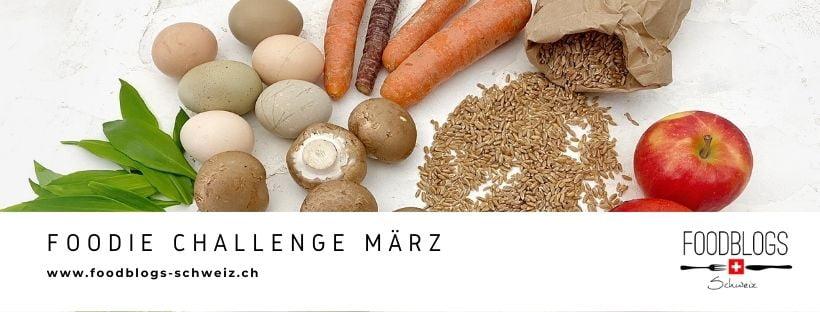 Banner  für die Foodblogs Schweiz Challenge im März 2021